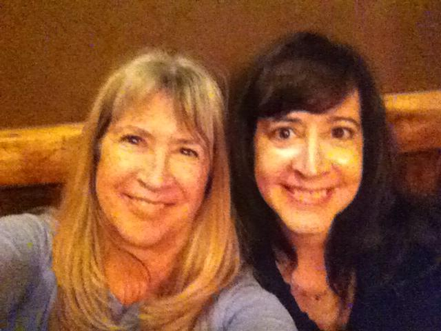 Selfie after long day of Christmas shopping! Me and my sis, 2012