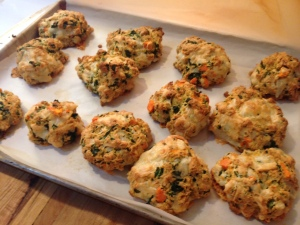 savory scones baking sheet