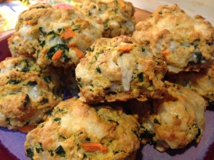 savory scones close up