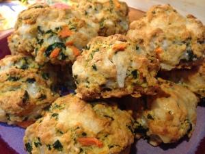 savory scones close up