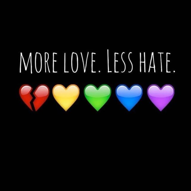 more love, less hate