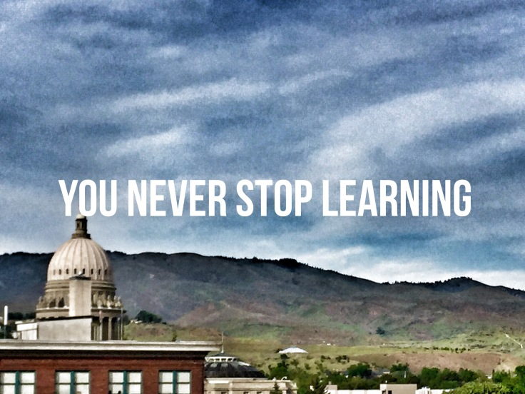nver stop learning