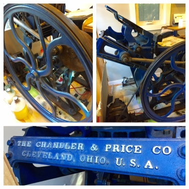 Handcrafted on a 100 Year Old Printing Press #LadybugPress
