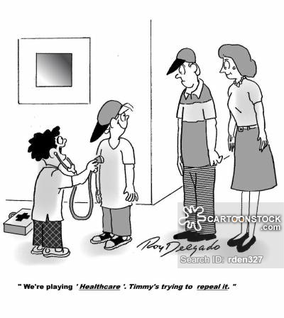 'We're playing 'healthcare'. Timmy's trying to Repeal it.'