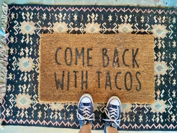 taco welcome mat